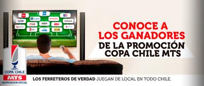 """Listado de ganadores campaña """"Llévate la final de la COPA CHILE MTS"""""""