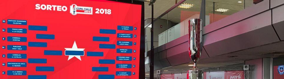 Definidos los octavos de final de la Copa Chile MTS 2018